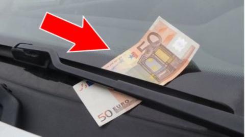 Por qué NO debes coger un billete de 50 euros del parabrisas