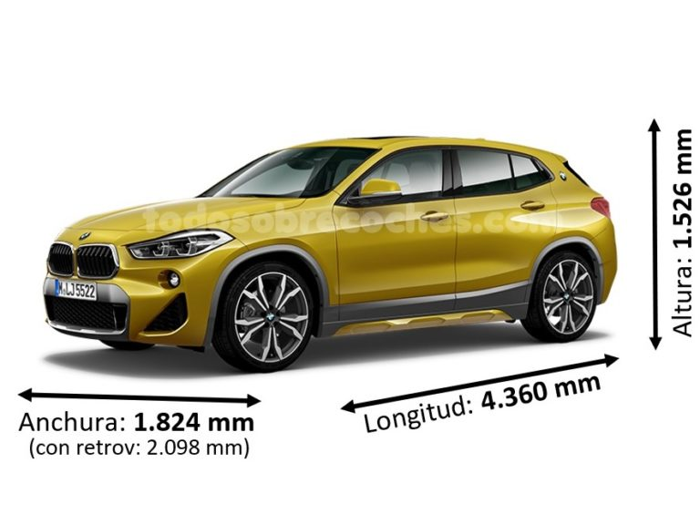 Medidas BMW X2 básicas