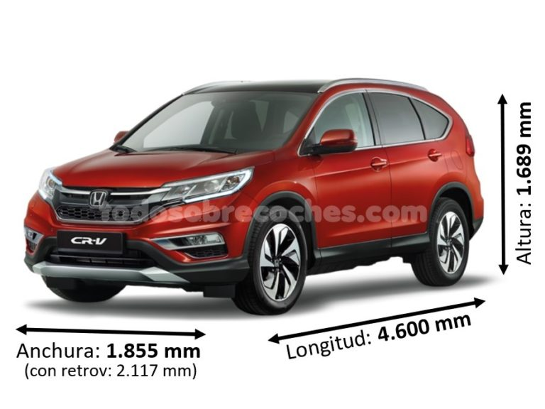 Medidas Honda CR-V básicas