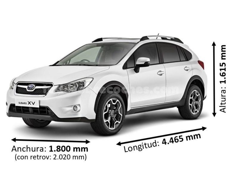Medidas Subaru XV