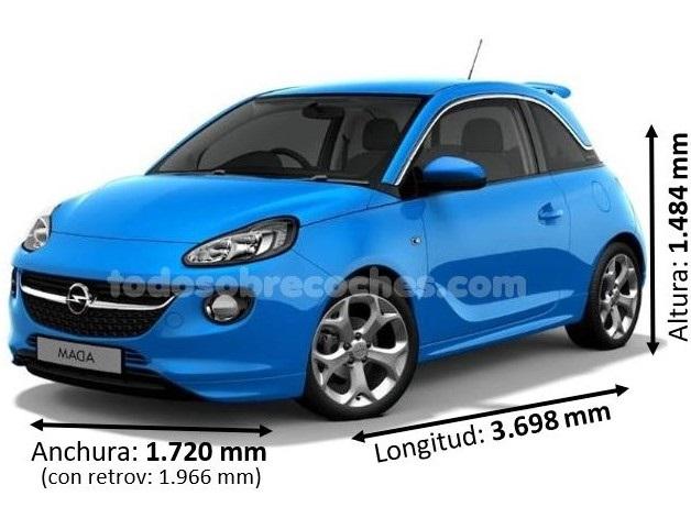 Medidas Opel Adam