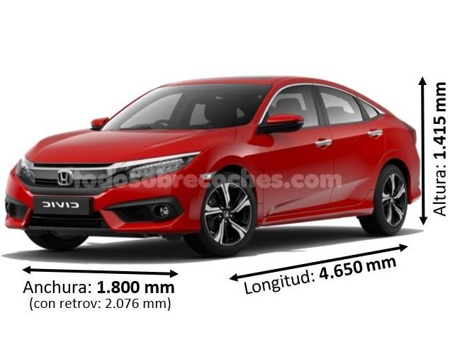 Medidas Honda Civic sedan