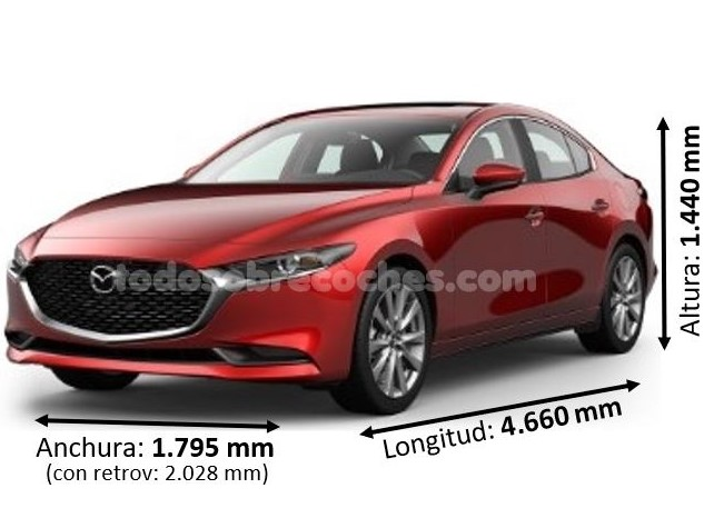 Medidas Mazda 3 sedan