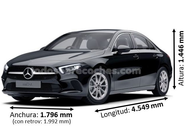 Medidas Mercedes clase A sedan