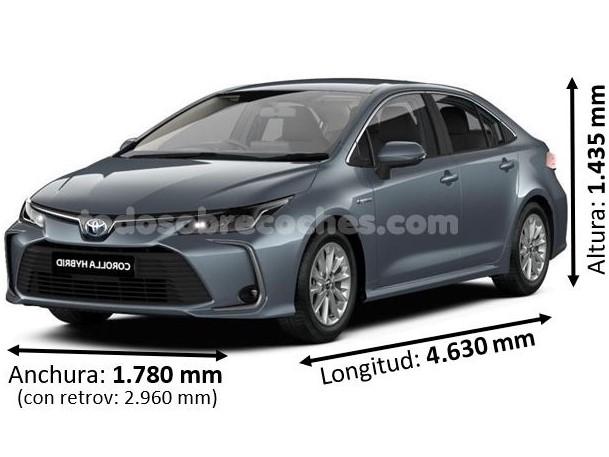 Medidas Toyota corolla sedan