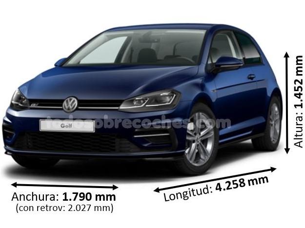Medidas Volkswagen Golf