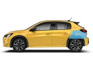 Peugeot 208 2019 capacidad minima maletero 311
