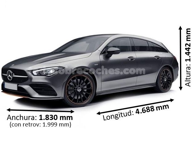 Medidas Mercedes CLA shooting brake 2019