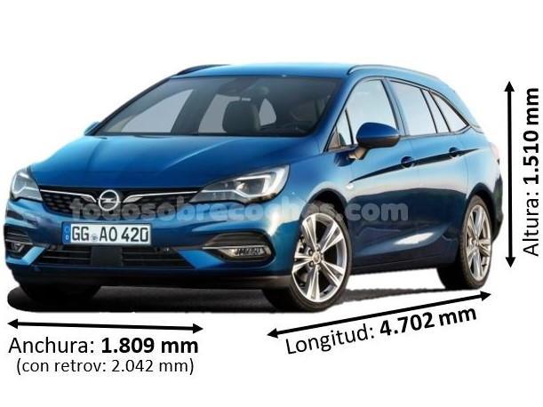 Medidas Opel Astra sports tourer 2020