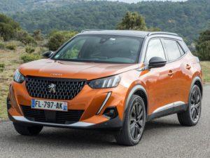Peugeot 2008 2020 bicolor naranja dorado y negro