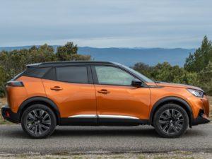 Peugeot 2008 2020 orange fusion lateral