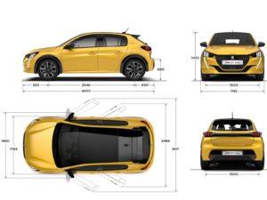 Peugeot-208-2019-medidas-y-dimensiones-exteriores