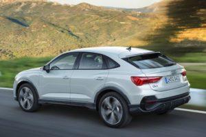 Audi Q3 Sportback 2019 coupe blanco carretera