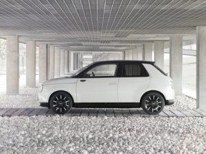 Honda e 2020 en el parking