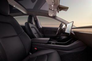 Tesla Model 3 asiento de cuero negro
