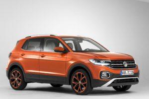 Volkswagen T-Cross 2019 color naranja llantas negras