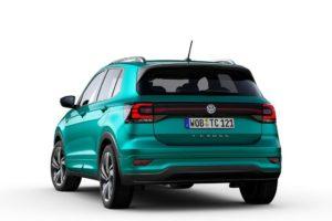 Volkswagen T-Cross 2019 por detras fondo blanco