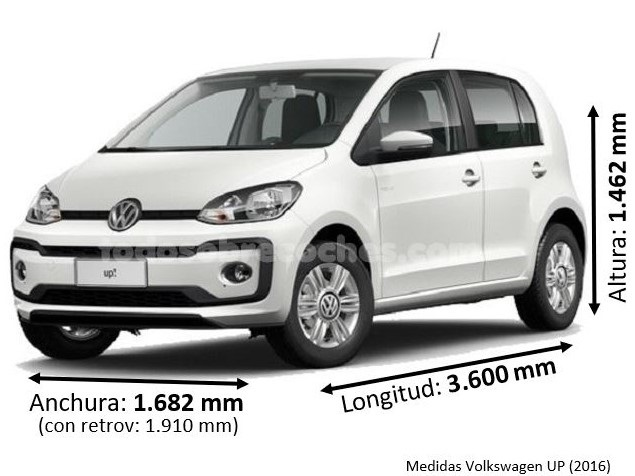 Medidas Volkswagen UP 2016