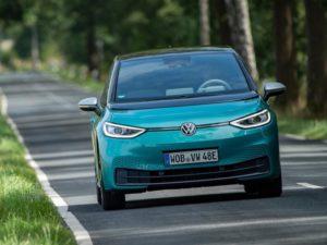 Frontal Volkswagen ID.3 azul