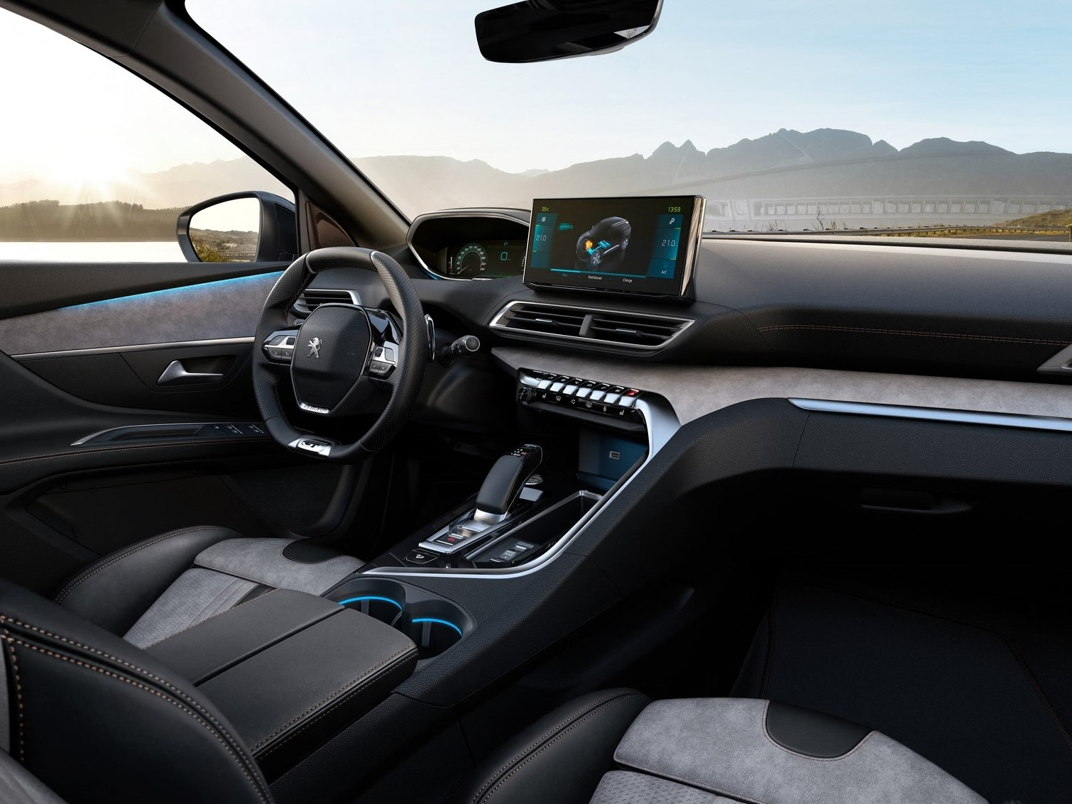 Interior Peugeot 3008 2021 GT automático