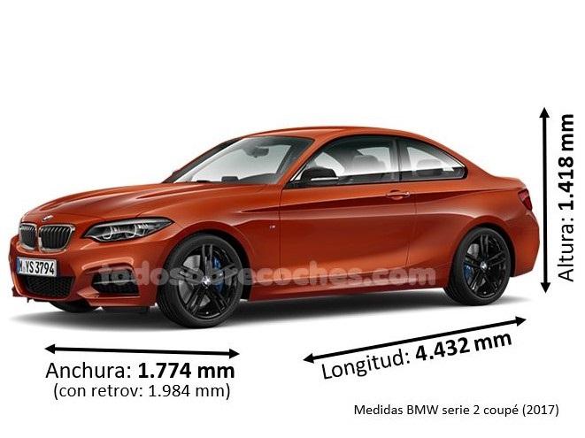 Medidas BMW serie 2 coupé 2017