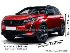 Medidas Peugeot 3008 2021