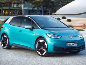 Volkswagen ID.3 azul y blanco