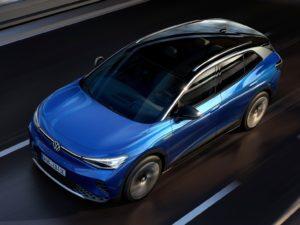 Volkswagen ID.4 2021 vista aerea azul y negro